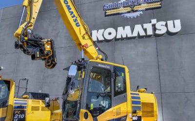 Maskinmässa med Komatsu – provkörning i Rosersberg 24-25 maj