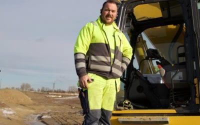 Arne Oddshammar kör Komatsu sedan över 20 år