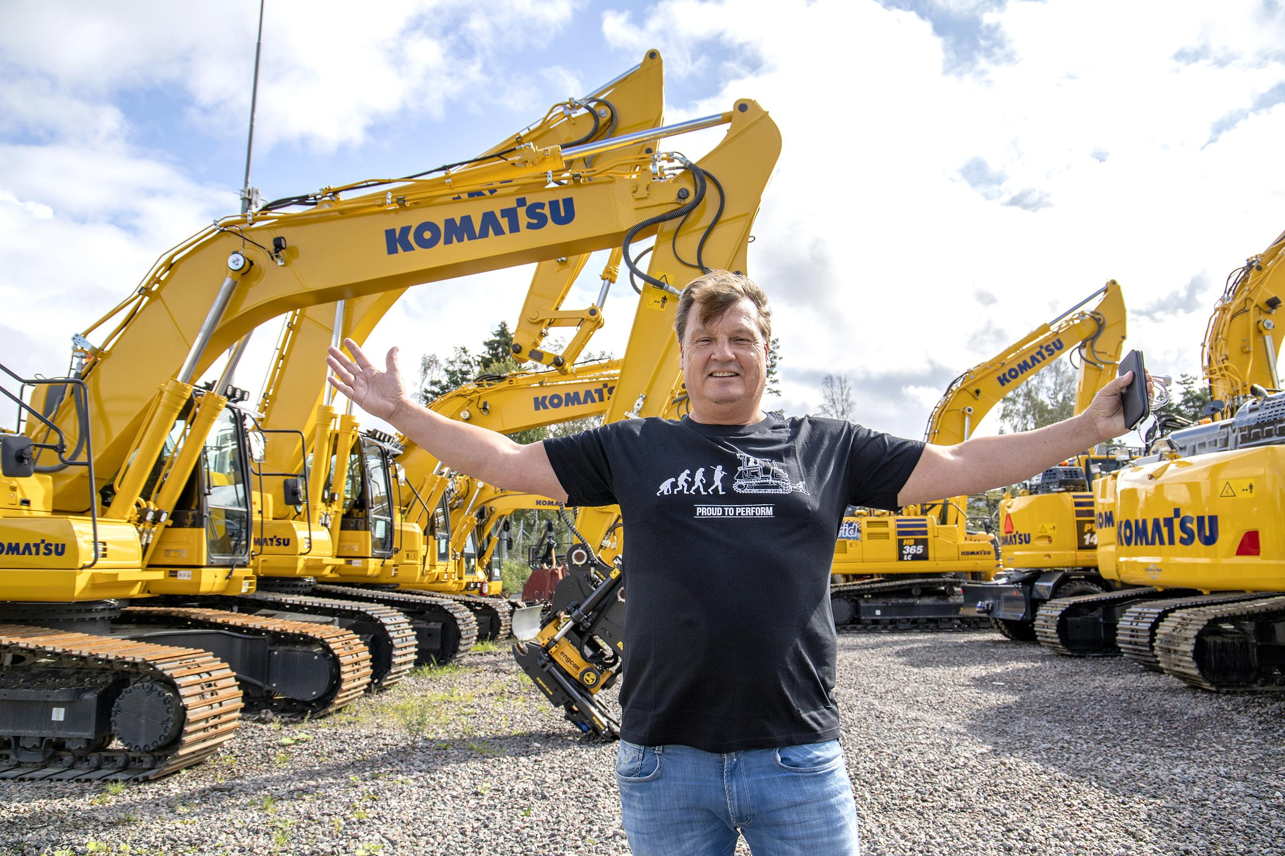 Björn Sällström säljer Komatsu i Västsverige