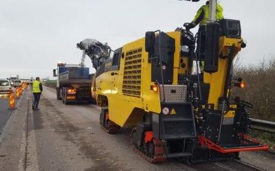 Positivt när Bomag demonstrerade unika asfaltsfräsen