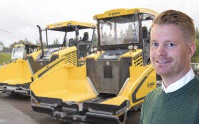 Tobias Rostedt produktchef för Bomag i Sverige