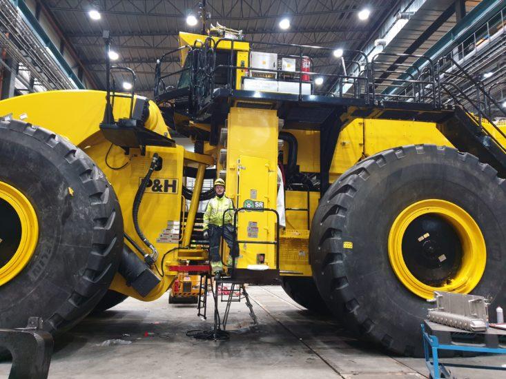 Världens största hjullastare – starkast i gruvan