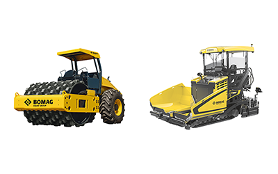 Bomag heavy equipment